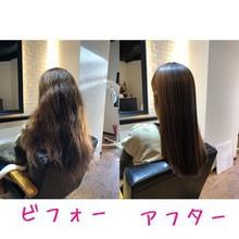 【髪が多い・クセが強い】縮毛矯正のビフォーアフター