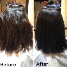 【縮毛矯正事例】ビビり毛を切りながらリタッチで髪の入れ替え