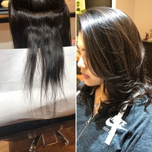 スカスカに梳かれ髪を縮毛矯正とデジタルパーマで改善