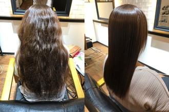 髪が細くクセが強い、顔回りが短くちりちり...弱酸性縮毛矯正事例
